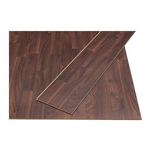 Pavimento in laminato Ikea Prärie effetto castagno