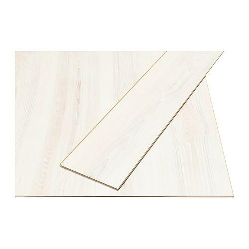 Pavimento in laminato Ikea Prärie effetto frassino/bianco