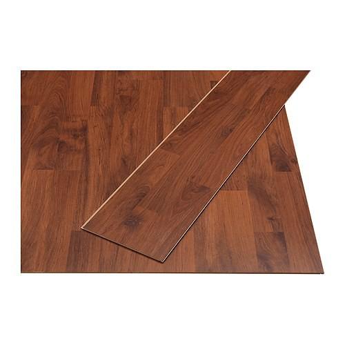 Pavimento in laminato Ikea Prärie effetto rosso/marrone
