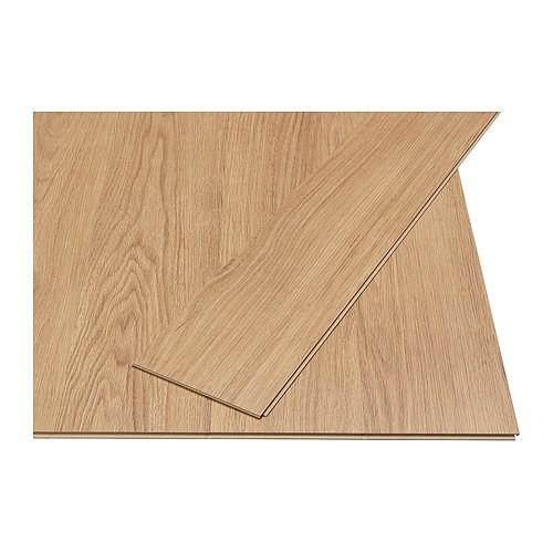 Pavimento in laminato Ikea Slätten fnitura effetto rovere