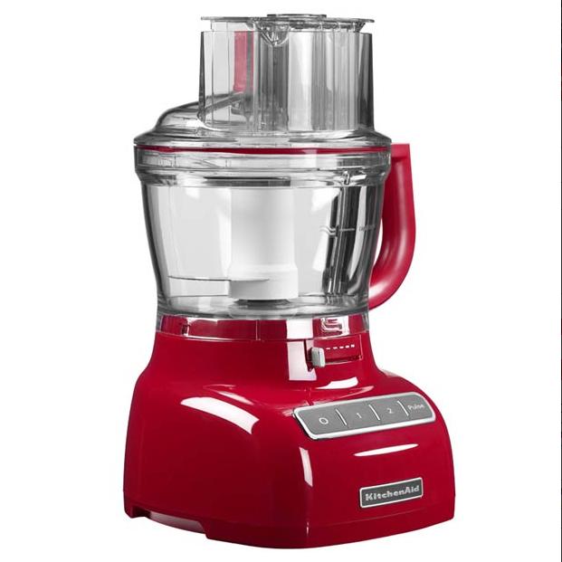Kitchen Aid  5KFP1335ER robot da cucina, potenza 300 watt, capacità 3,1 l, 2 velocità, leva esterna regolabile per affettare. Prezzo indicativo 300 euro