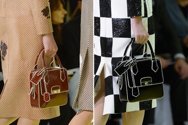 Borse in tinta unita alla sfilata Louis Vuitton.