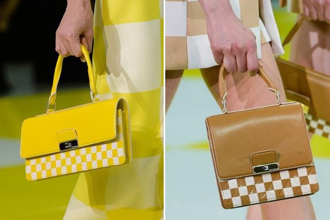 L'iconica trama Damier per le borse PE 2013 di maison Vuitton.