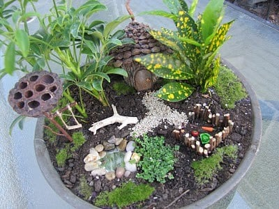 Fairy Garden con orto e vegetazione