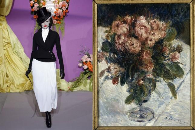 A des: Auguste Renoir, Roses mousseuses, 1890. © Hervé Lewandowski/RMNGrand Palais (musée d'Orsay)
