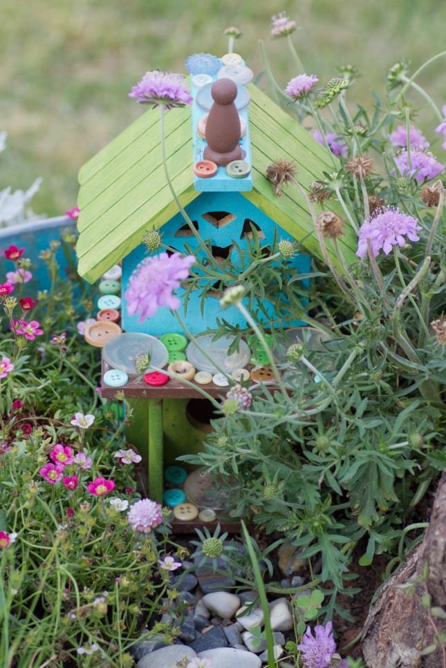 Fairy Garden con materiali di riciclo