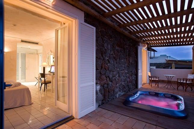 La Suite con Jacuzzi sulla terrazza panoramica.