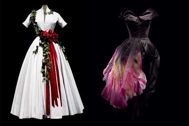 A des: abito di organza nera dipinto a mano, collezione Haute Couture A-I 2010 by John Galliano.