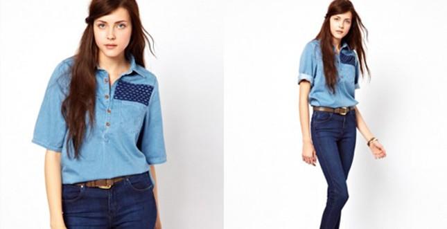 Wrangler - camicia con applicazione carrè fronte e retro
