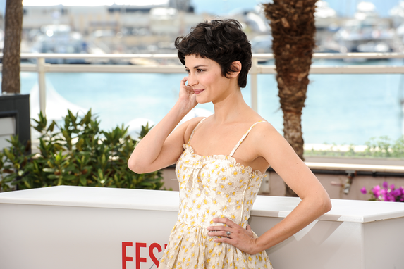 Audrey Tautou in Valentino © FDC : G. Thierry