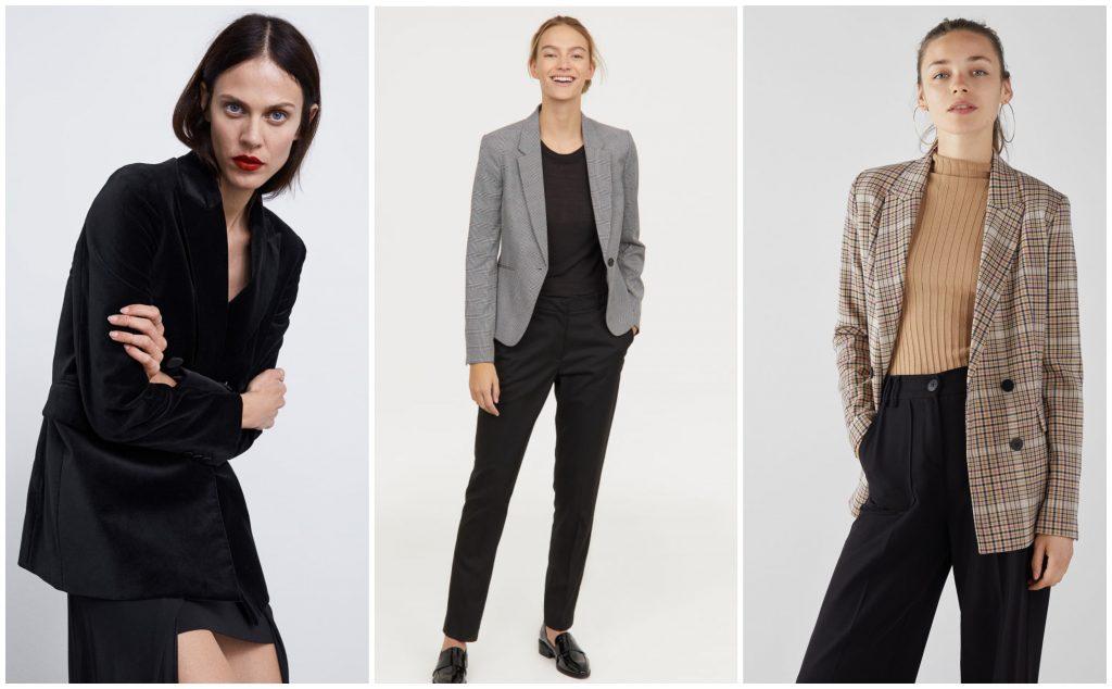 Blazer: quale scegliere. Fonte Bershka, H&M e Zara.