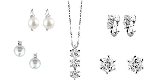 Damiani, orecchini in perle e diamanti, collier e orecchini in oro bianco e diamanti, collezione Le Perle e Preziosa