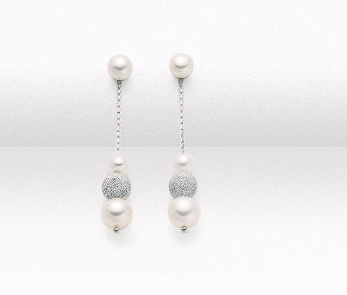 Orecchini in oro e perle Collezione Luna Nuova Miluna