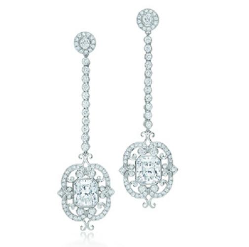 Tiffany Orecchini chandelier con diamanti Lucida