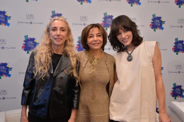 Franca Sozzani, Desirée Bollier e Milla Jovovih