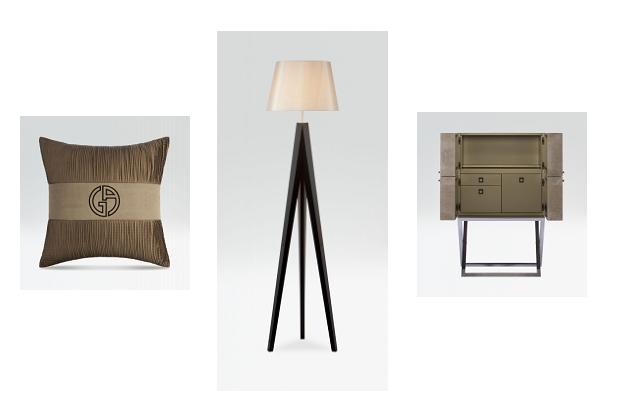 Dalle stoffe alle lampade ai mobili, minimal e sofisticata l'Armani Home Collection