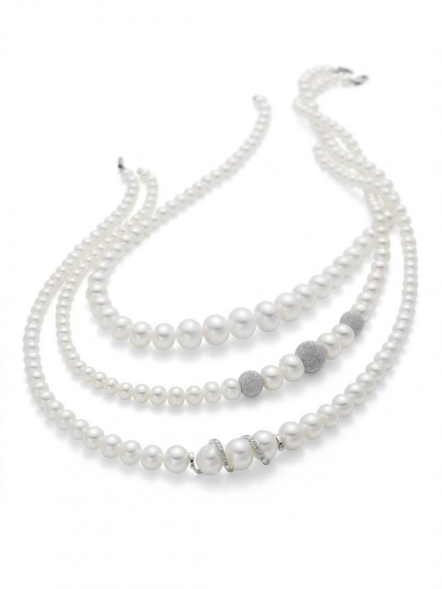 Collier di perle di dimensione diverse Miluna