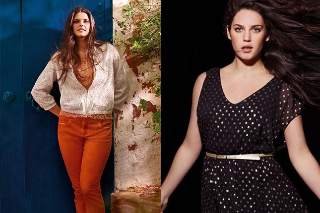 Fiorella Rubino, praticità e colore brioso (a sinistra), eleganza e sensualità per l'abito a micro pois (a destra)