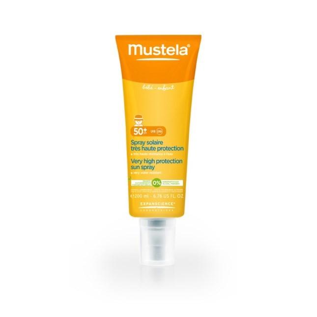 Spray solare ad altissima protezione 50+ di Mustela