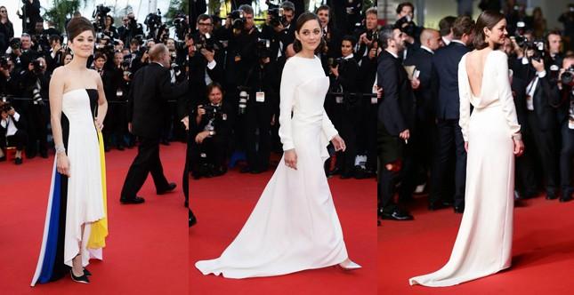 Marion Cotillard nei due abiti Dior indossati sul red carpet il 20 e il 24 maggio
