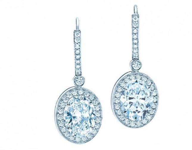 Orecchini Tiffany oro bianco e diamante