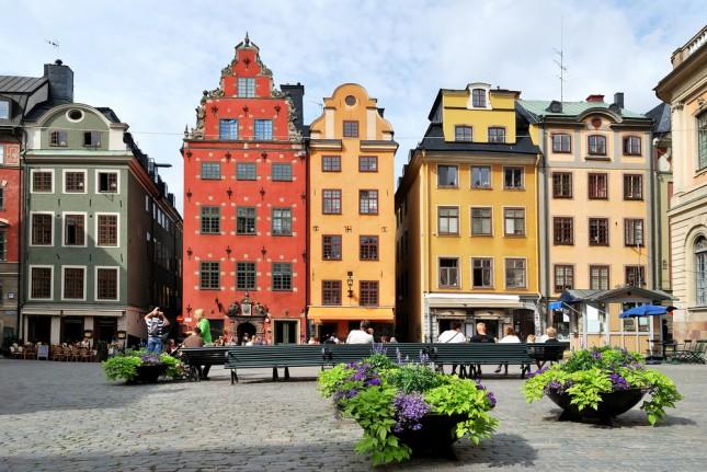 Stoccolma, piazza Stor Torget nel cuore della città vecchia
