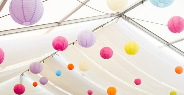 lanterne di carta colorata