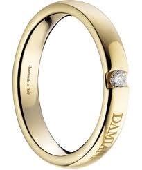 Fede Nuziale Damiani con diamante per Sposa