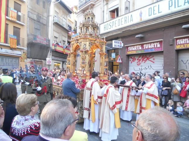 Processione Corpus Domini, Statua in oro / Barbara