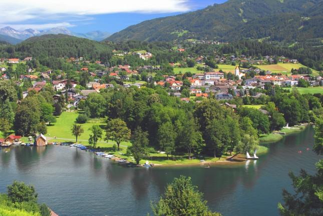 Seeboden,lago Millstaetter See,Carinzia