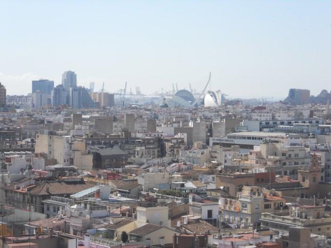 Vista sulla città di Valencia dal campanile / Barbara