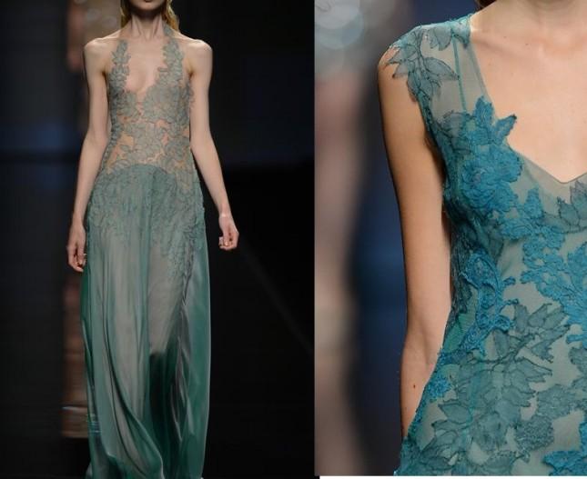 Long dress da sera della collezione Alberta Ferretti estate 2013