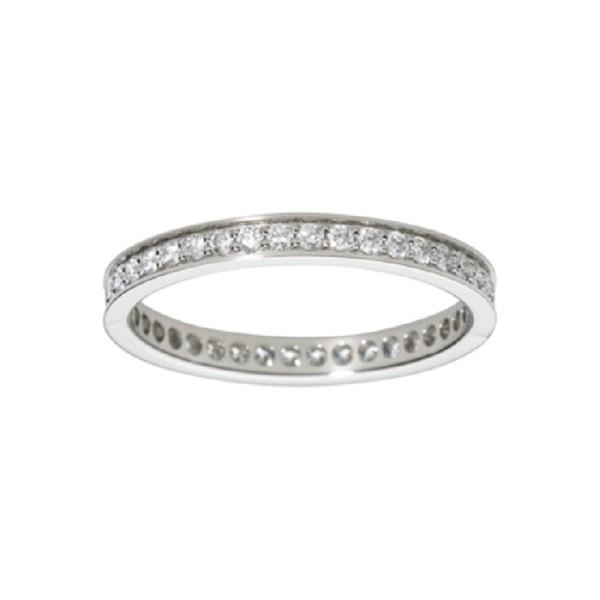 Fede Nuziale Cartier in platino e diamanti