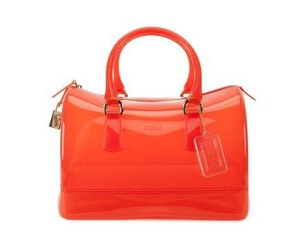 Furla Candy Bag in pvc arancio scuro fluo