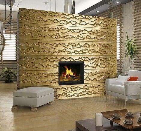 Total Stone effetto metallo oro