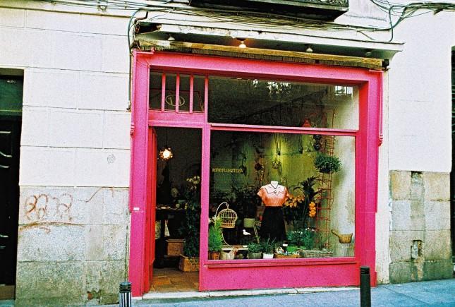 Nel barrio de Las Letras, il quartiere degli scrittori, tutto è un po' artistico, anche un semplice negozio che vende non solo vestiti e accessori, ma anche piante e fiori.