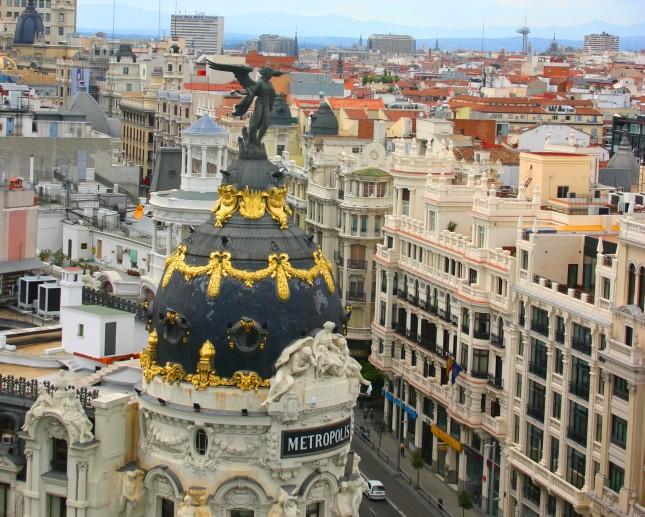 Ci sono molti punti panoramici in città per ammirare dall'alto edifici, strade, persone: questa foto è stata scattata dalla Azotea (terrazza) del Circulo de Bellas Artes.