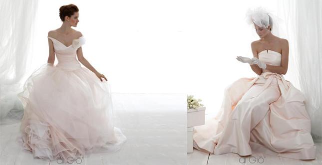 Abiti di Le Spose di Giò in rosa cipria
