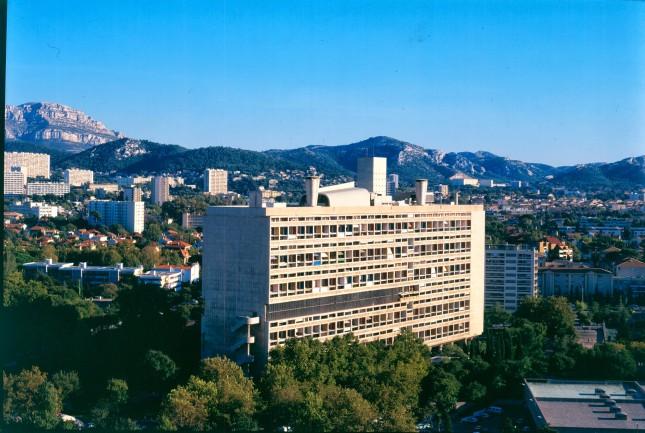 Vista d'insieme della Cité Radieuse di Le Corbusier, ©Fondation Le Corbusier