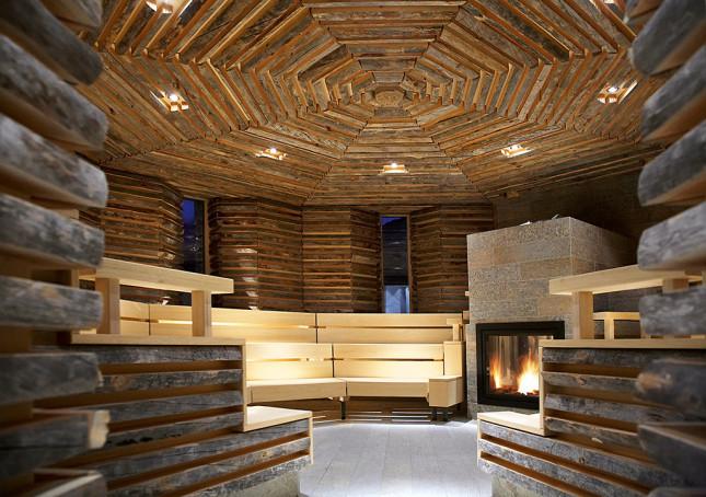Tschuggen Hotel, sauna