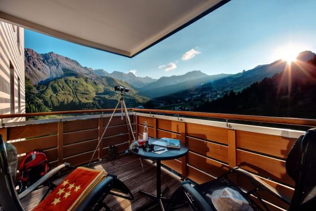 Tschuggen Hotel, balconata