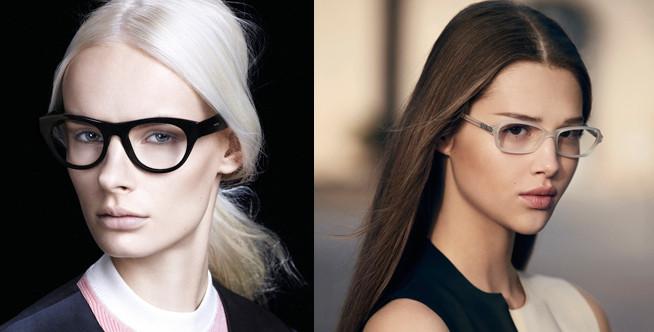 L'eyewear p/e 2013 secondo Prada e secondo Armani