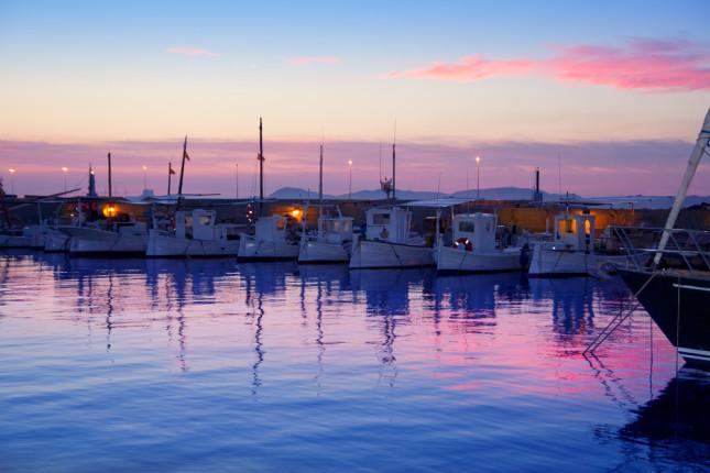 Il tramonto su Es Pujols