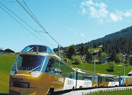 treno panoramico Golden Pass da Montreaux a Gstaad