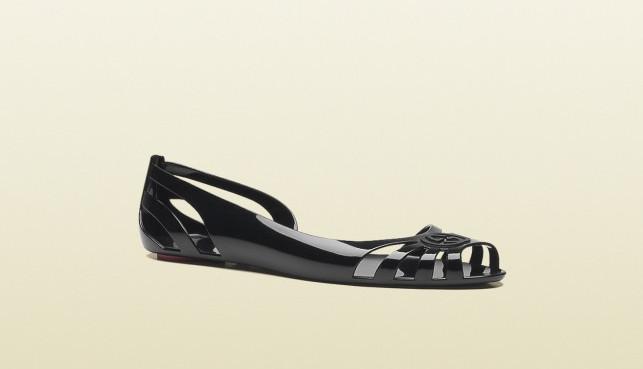 Ballerina Gucci bio plastica nera open toe intagliata pe  2013