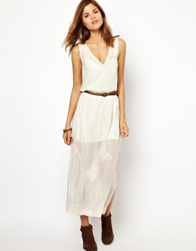 asos vestito bianco