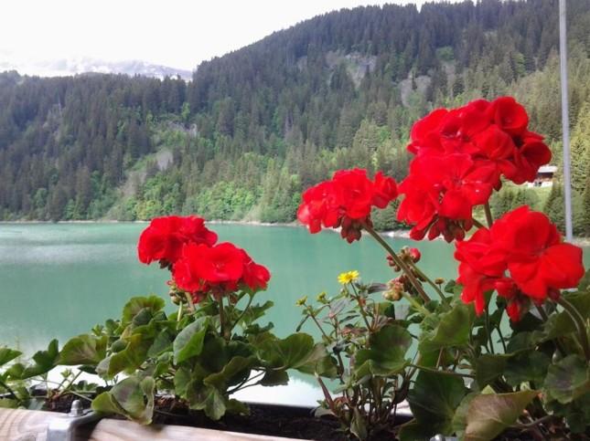 Vista mozzafiato sul lago di Arnen in Svizzera