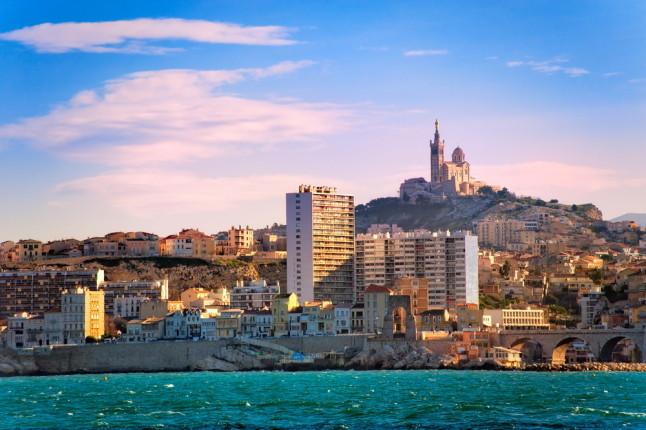 Vista della città di Marsiglia.