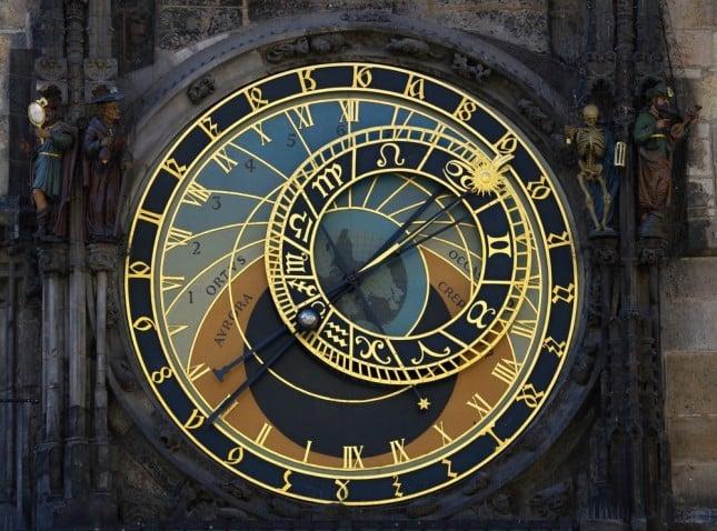 Dettaglio dell'orologio astronomico