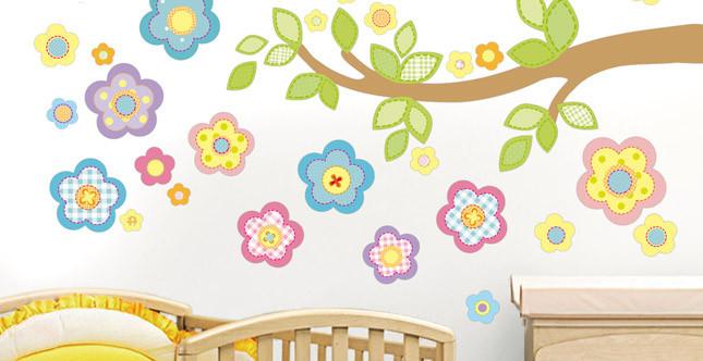 Decorazione da parete Shabby Chic flowers di Stikid